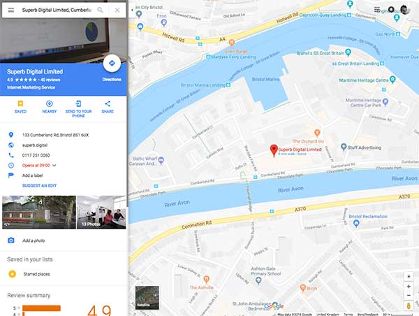 Search for the business on Google Maps