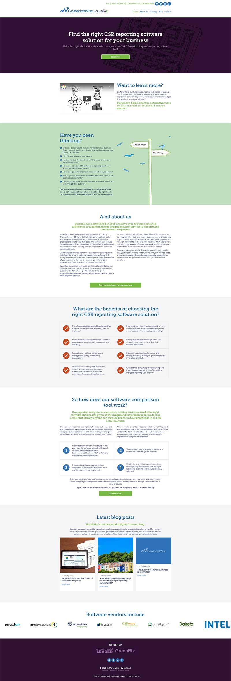 GoMarketwise website design