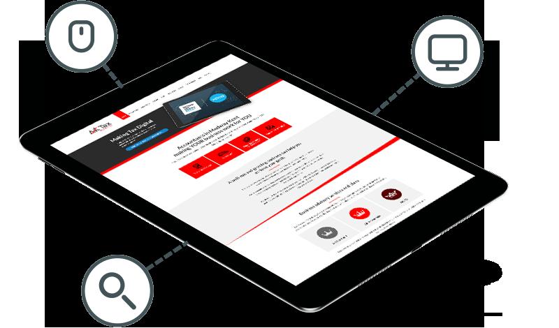 AK Tax Web Design on Tablet