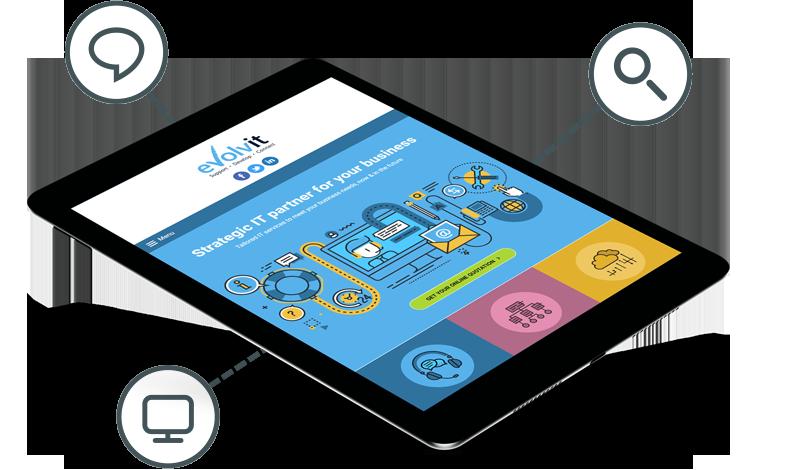 Evolvit Web Design on Tablet