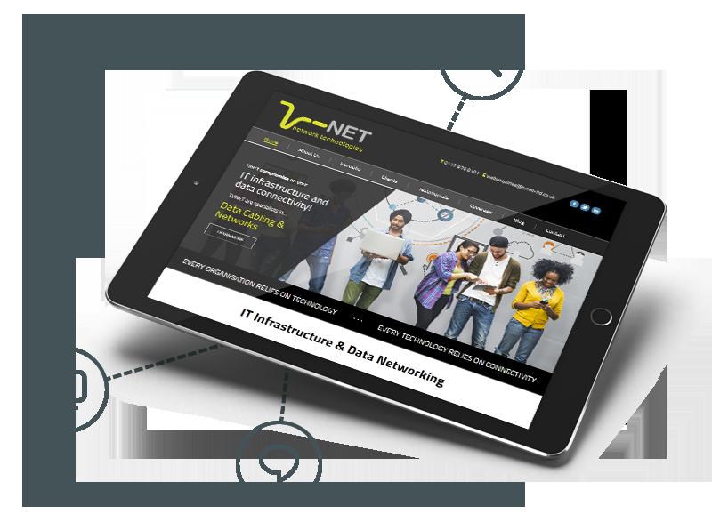 TV-Net Web Design on a Tablet