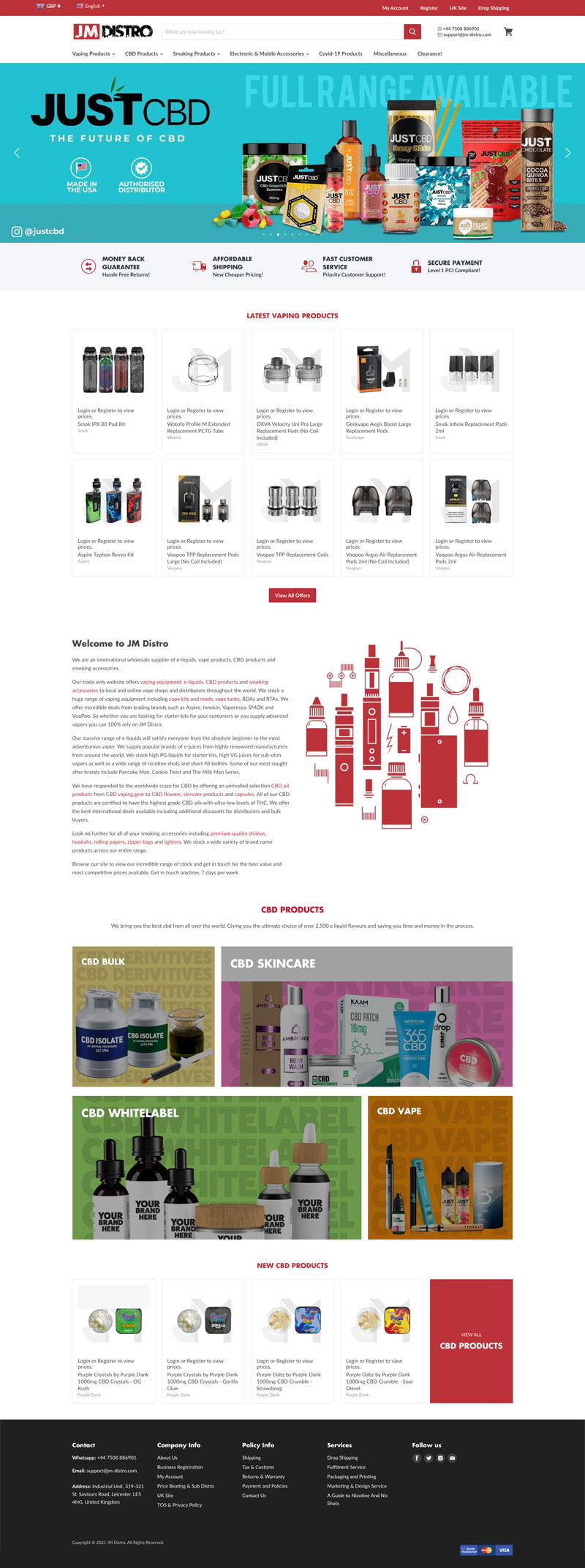 JM Distro Homepage
