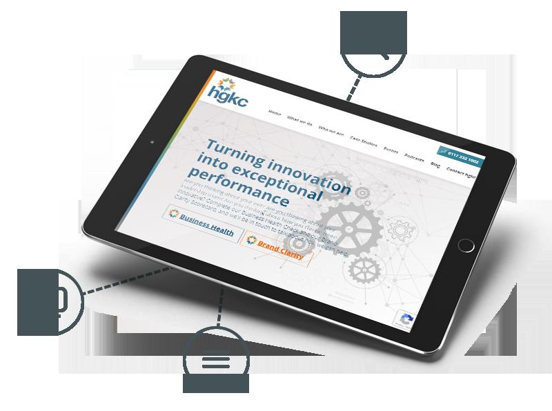 HGKC website in a tablet